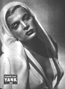 Lizabeth Scott in Yank Magazine, 1945
