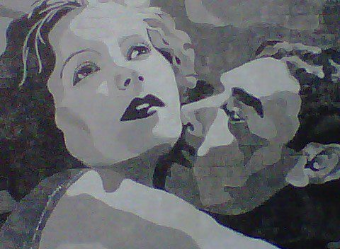 Gilbert and Garbo Mural. Columbus.