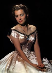 Olivia de Havilland in a publicity shot for Santa Fe Trail, 1940