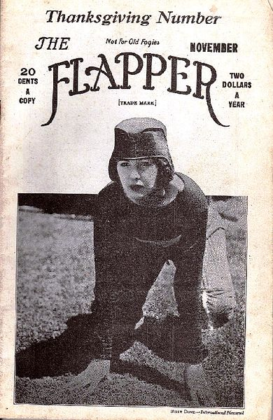 Billie Dove on the cover of The Flapper, Thanksgiving 1922